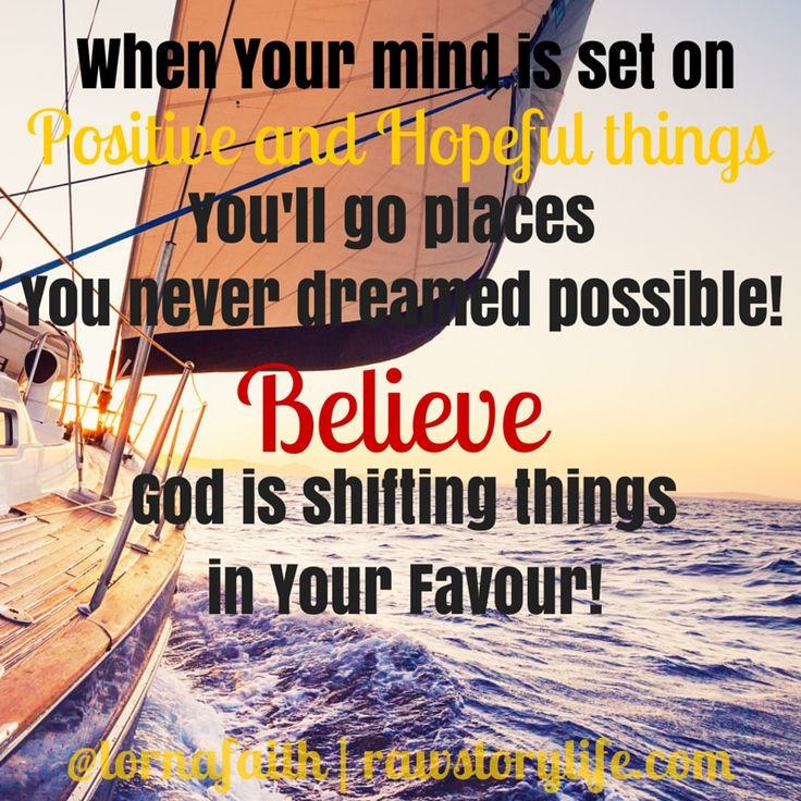 Focus on what you have to be thankful for today! There's a turnaround on the way... believe it♥