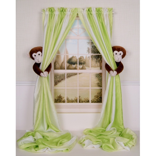 Monkey Nursery Curtain Critters Haven T Decided Whether These Are Cute Or Creepy Baby K Pinterest And Curtains