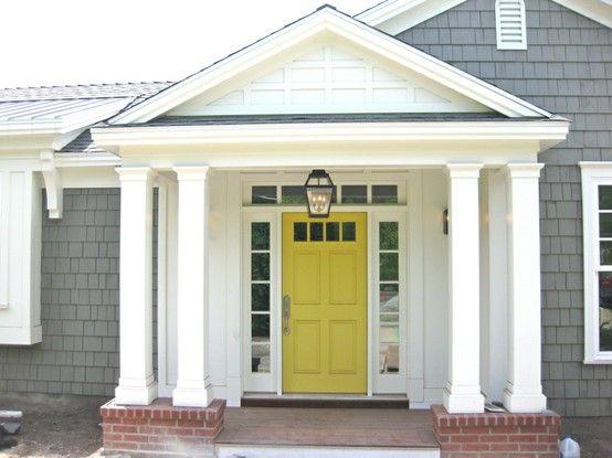 Love the yellow door!