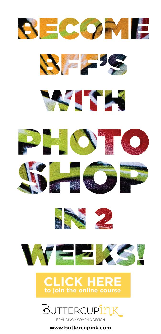 Learn Photoshop online in just 2 weeks! CLICK here for all the workshop details...