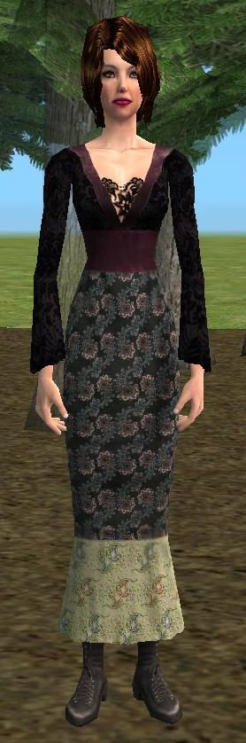 Sims 2 long dress mother