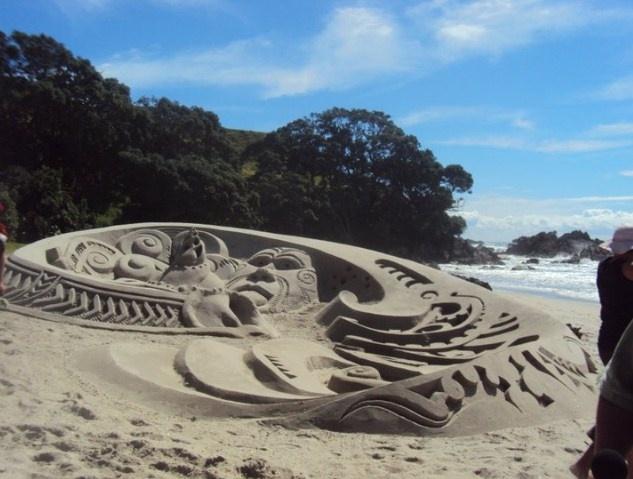 Celebrating Matariki ( Maori New Year) with a sand sculpture.