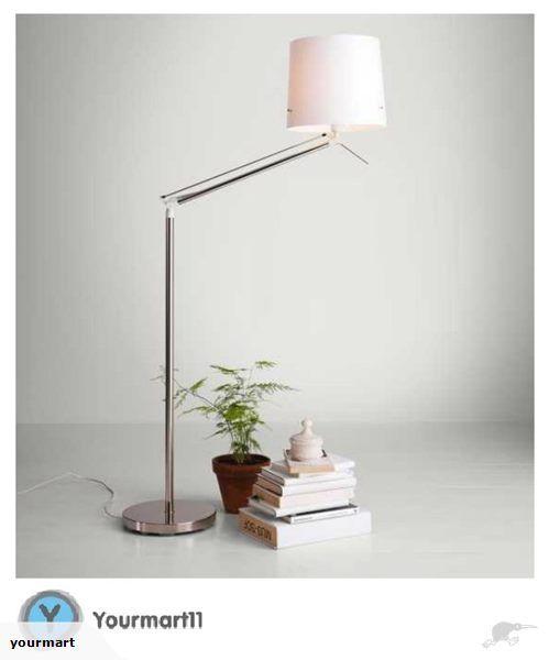 IKEA - SAMTID Floor/reading lamp, nickel-plated, w | Trade Me