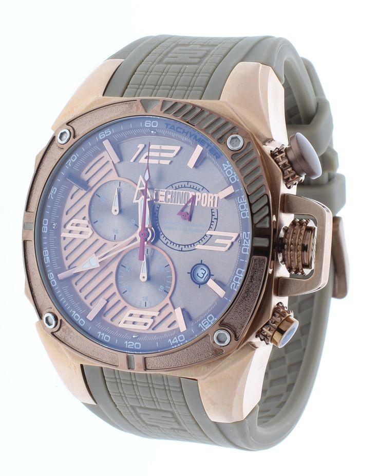 Technosport TS-100-11F1 Men's Watch Formula 1 Beige & Rose Gold Swiss Chronograph Date