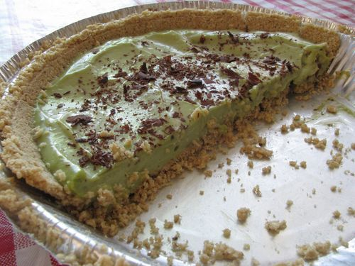 Avocado Lemon Pie - With a ready-made Heartland Graham Cracker or ...