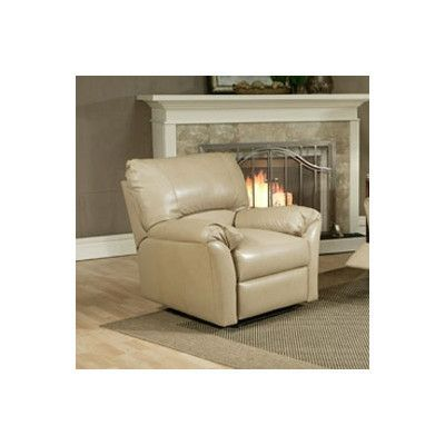 Omnia Leather Mandalay Lift Assist Recliner Body Fabric: Softsations Swiss Coffee, Recliner Type: Manual