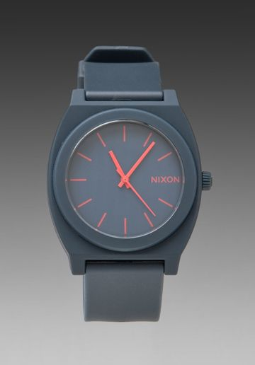 NIXON The Time Teller P in Matte Navy at Revolve Clothing - Free Shipping! I love this so much! $75.00