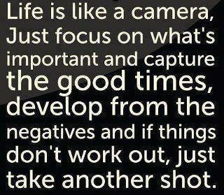 This is a great analogy and a wonderful life lesson.