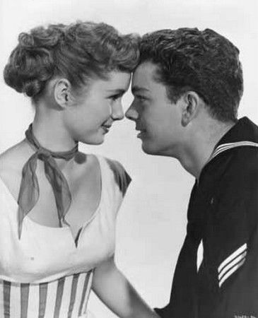 """Debbie Reynolds and Russ Tamblyn in """"Hit the Deck"""" (1955)"""