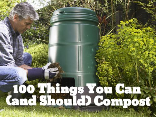 100 things you can compost kind of and compost. Black Bedroom Furniture Sets. Home Design Ideas