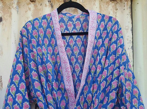 Check out this item in my Etsy shop https://www.etsy.com/au/listing/524933463/cotton-bathrobe-kimono-indian-block