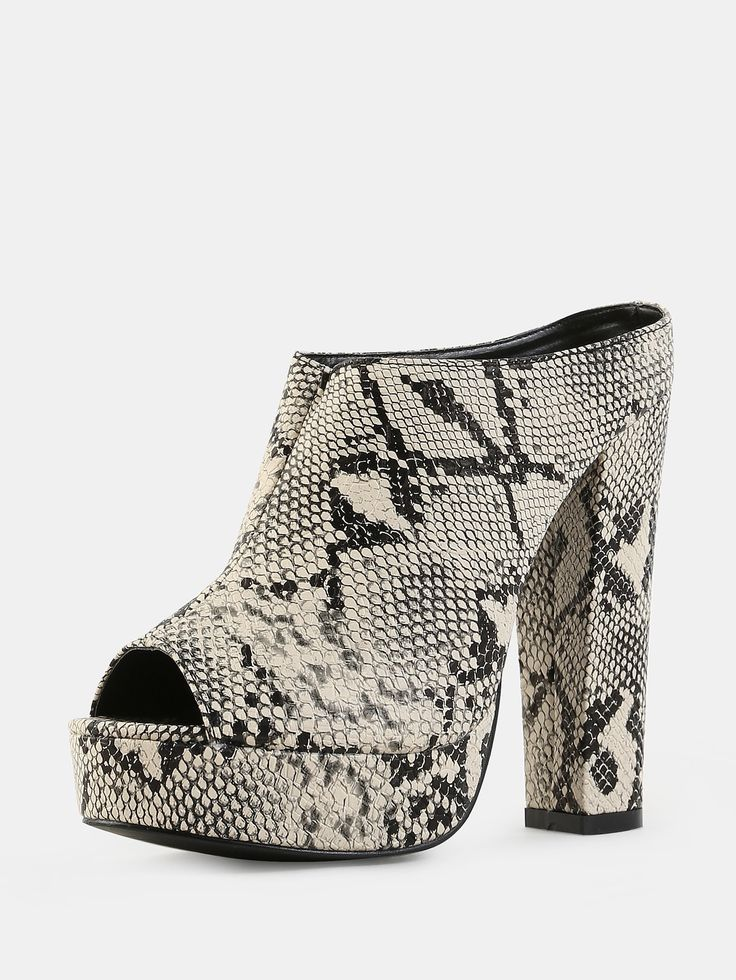 Shop Snake Embossed Peep Toe Mules SNAKE online. SheIn offers Snake Embossed Peep Toe Mules SNAKE & more to fit your fashionable needs.
