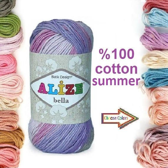 Check out this item in my Etsy shop https://www.etsy.com/listing/514332913/alize-bella-batik-100-cotton-yarn