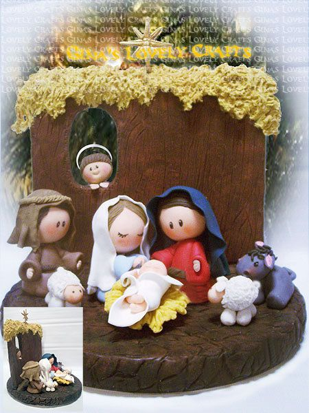 Handcrafted Christmas 9 piece Nativity Set! Please allow yourself enough time to order, Nativity takes 1 to 2 weeks to create! When I