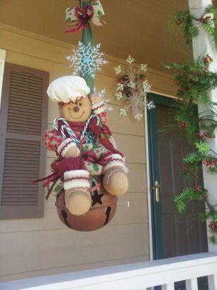 Gingerbread-man Bell. $80.00, via Etsy.