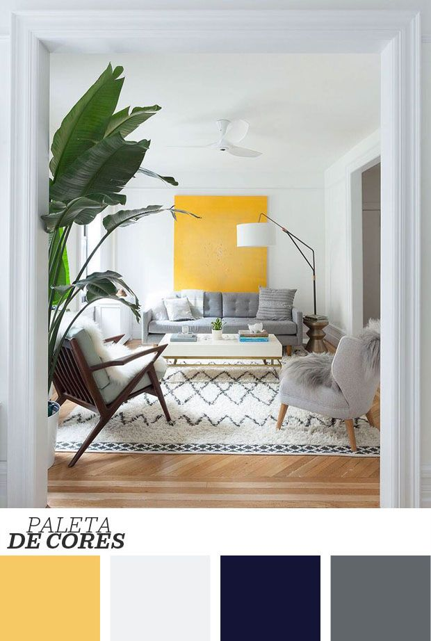 Décor do dia: maxiquadro na sala branca e tropical