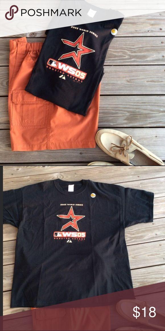 Official 2005 World Series Astros T-Shirt 2005 World Series Astros T-Shirt w/ halo gram Gildan Shirts Tees - Short Sleeve