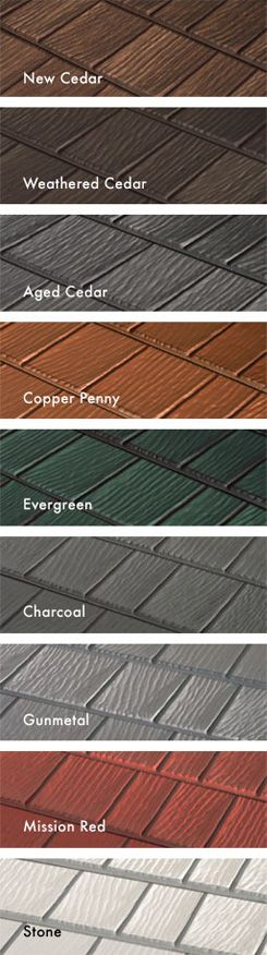 Kasselwood Steel Roofing Colors