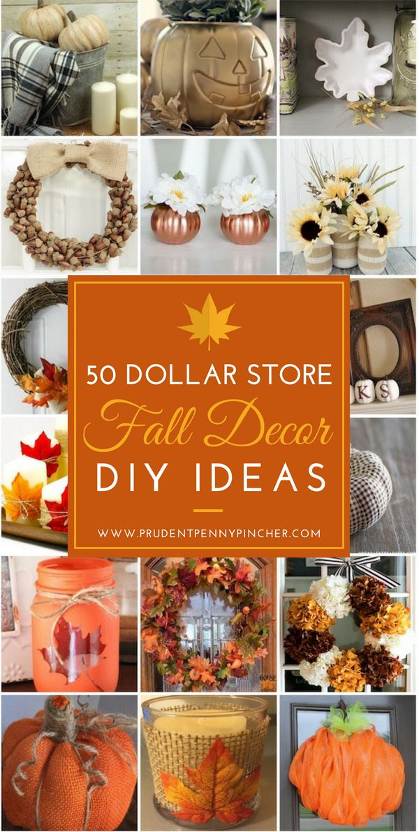 50 Dollar Store Fall Decor Ideas Fall Decor Diy Fall Diy Diy Fall