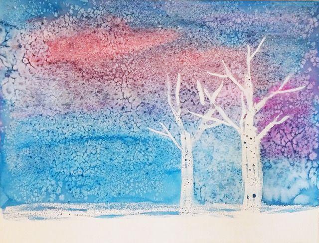 소금과 양초를 이용한 물감놀이 :: 너랑 나랑 그리는 그림 by Enid & Cherryyang