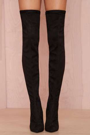 Jeffrey Campbell Superfreak Leather Thigh High Boot | Shop Shoes at Nasty Gal