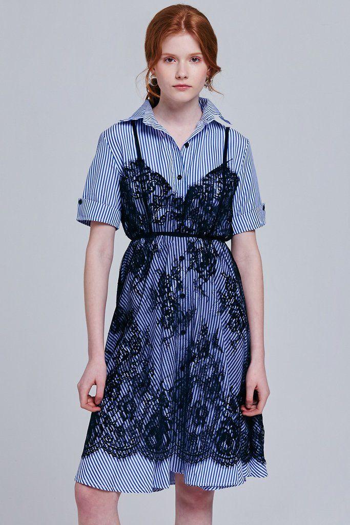 84725810d Ellen Half Sleeve Shirt Dress with Slip Set in 2019   Dress to Shine ...