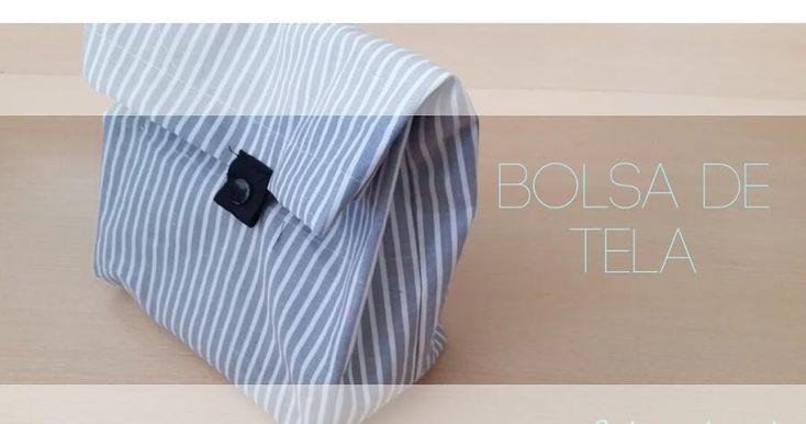 Hoy vamos a ver cómo hacer la típica bolsa de tela que siempre debemos tener por casa. ¡Y es que le podemos dar mil utilidades!