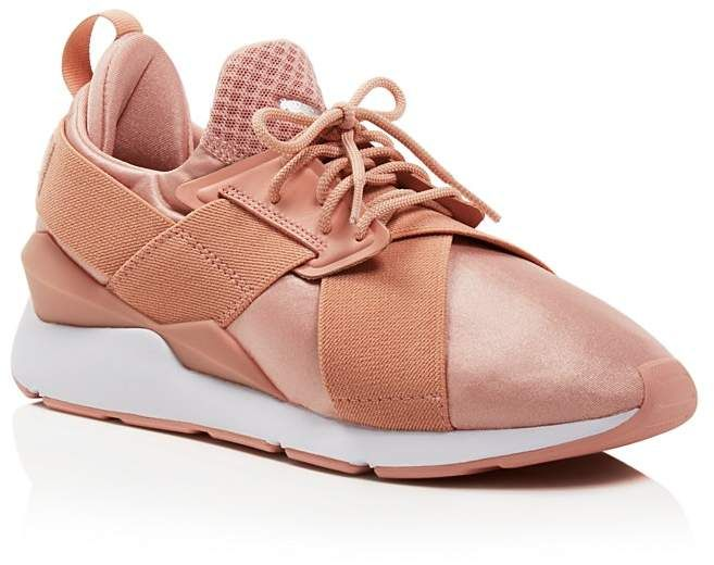 PUMA Women's Muse Satin Lace Up Sneakers #fashion #trend