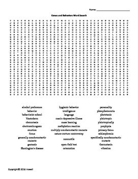 26 best Genetics Word Searches for Genetics Teachers images on ...