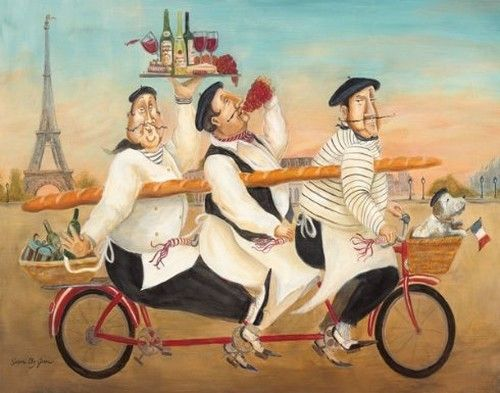 Susan Eby Glass - chefs on bicycle