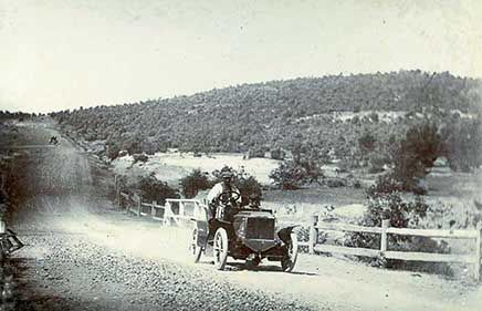 RoyalAuto, May 2016. Rediscover the Old Hume Highway. RACV foundation member Harley Tarrant outside Goulburn, NSW, in a 10 hp Argyll car competing in the Sydney-Melbourne 1905 Dunlop Reliability Trial. #humehighway #1905dunlopreliabilitytrial #dunlopreliabilitytrial #tarrant #argyll