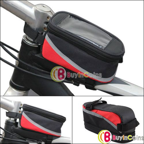Cycling Bike Bicycle Waterproof Frame Pannier Front Cell Phone Tube Bag Case - 4.2$