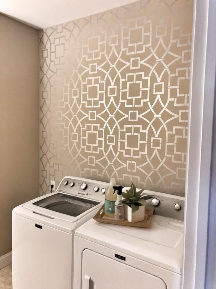 Pin On Diy Decorating Ideas Using Stencils #wall #stencils #for #living #room