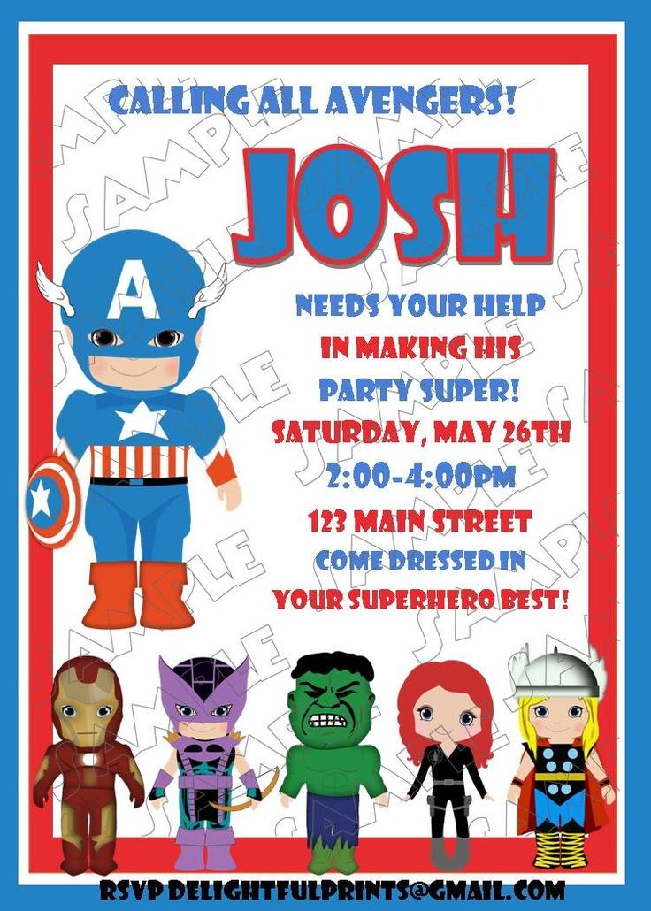 Avengers birthday invitation and friends many colors...DIY you print custom photo card by delightfulprints. $10.00, via Etsy.