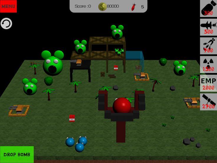 Angry birds level in blocky bomb apocalypse #blocky # bomb # apocalypse # angry # birds #minecraft #destruction