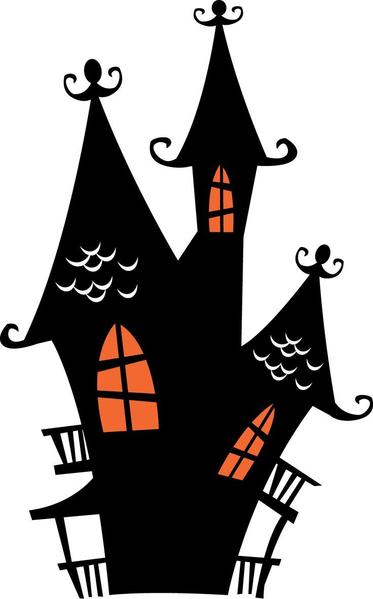 halloween spooky house clip art | Halloween Haunte…