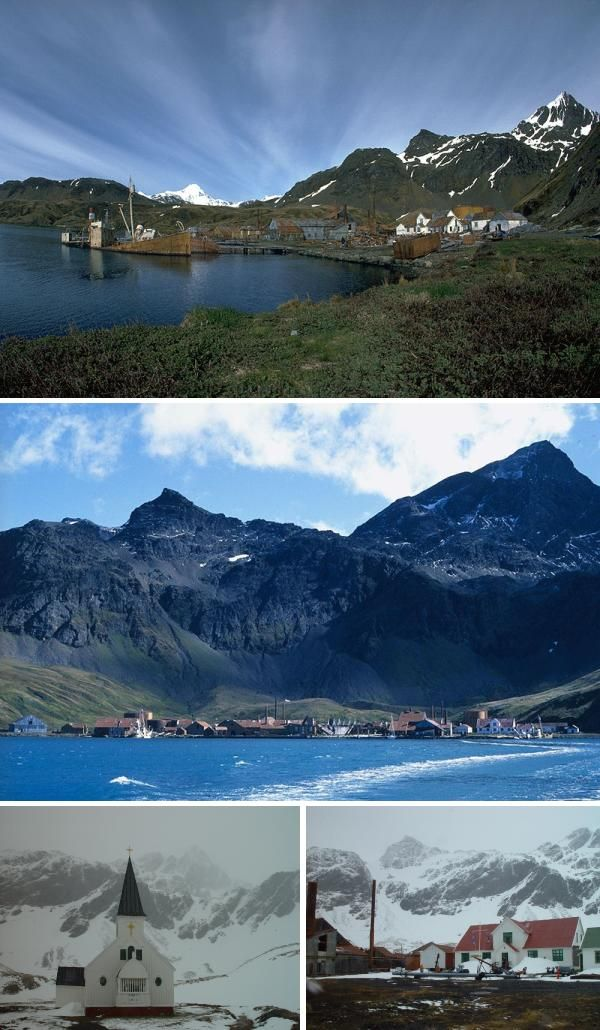 "Grytviken, meaning ""The Pot Cove"" was the main settlement on the British territoy of South Georgia and is the best preserved Antarctica ghost town. It was established in 1904 and is the final resting place of Anglo-Irish explorer Ernest Shackleton."