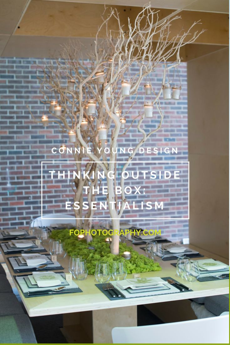 Connie Young Design shows Dinner By Design Calgary 2015 how to think outside the box.