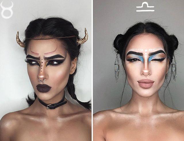 знаки зодиака в макияже картинки может быть составлен