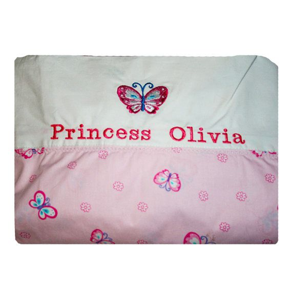 Personalised Baby Name Embroidery Princess by BabysPreciousGifts