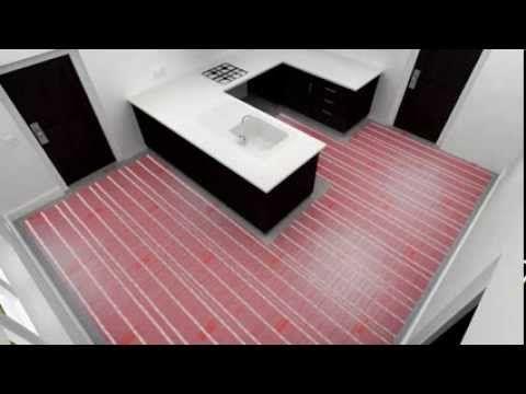 Underfloor Heating Mat Installation Video by Warmup® (Kitchen)