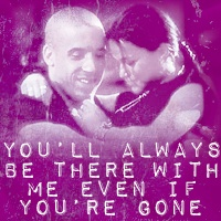 I don't wanna be like Romeo and Juliet. I wanna be like Dom and Letty
