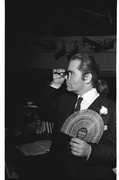 1983 - Karl Lagerfeld at Studio 54. Photo: Dustin Pittman.
