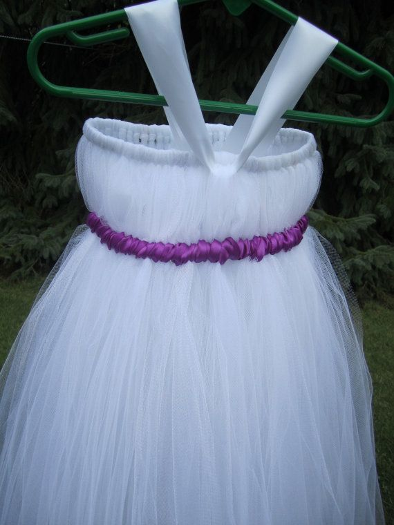 White  Tutu Dress Newborn to Girls Size 12 by JazzyGDesigns, $34.00