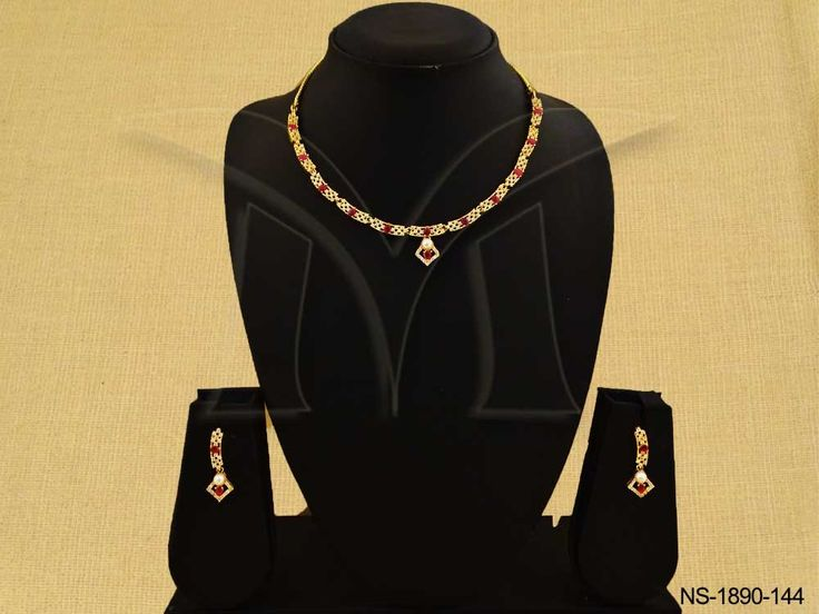 SEGMENTED PARTY WEAR STYLE AD NECKLACE SET