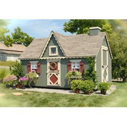 Little Cottage Company Cape Cod Small Playhouse Kit with Floor & Reviews   Wayfair