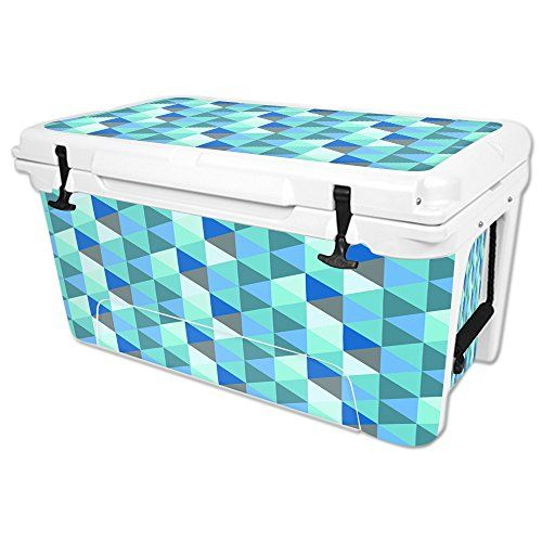 MightySkins Protective Vinyl Skin Decal for RTIC 65 qt Cooler wrap cover sticker skins Blue Kaleidoscope -- Read more reviews of the product by visiting the link on the image.(This is an Amazon affiliate link and I receive a commission for the sales)