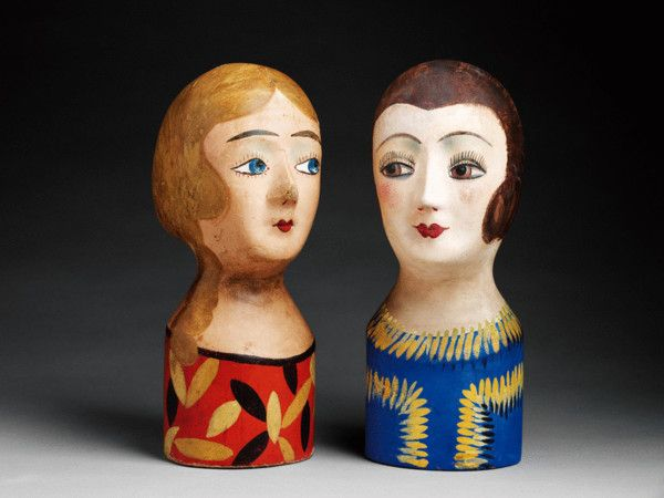 Female Head Form Wig Stands or 'Marottes'