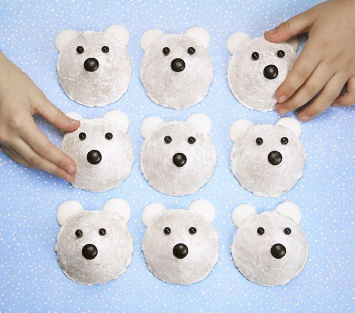 Create a plate full of perfect little polar bears with this easy, no-bake, white chocolate cookie recipe.