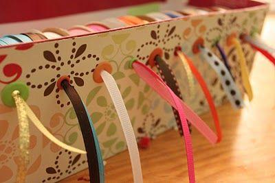 Turn a Shoebox into a Ribbon Storage Box